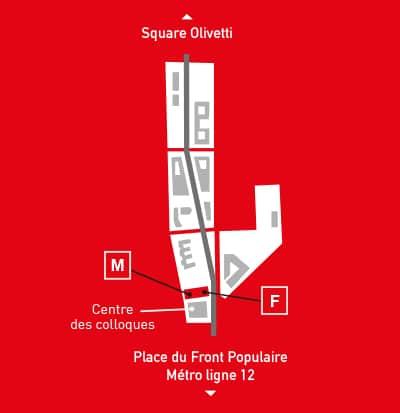 Carte de Campus Condorcet
